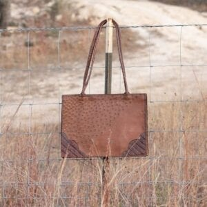Ostrich and Croc RE Tote
